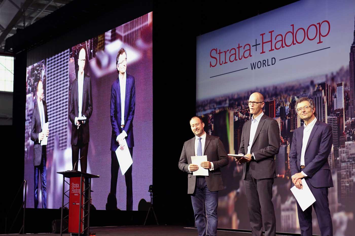 Strata + Hadoop World NY 2016 keynote stage