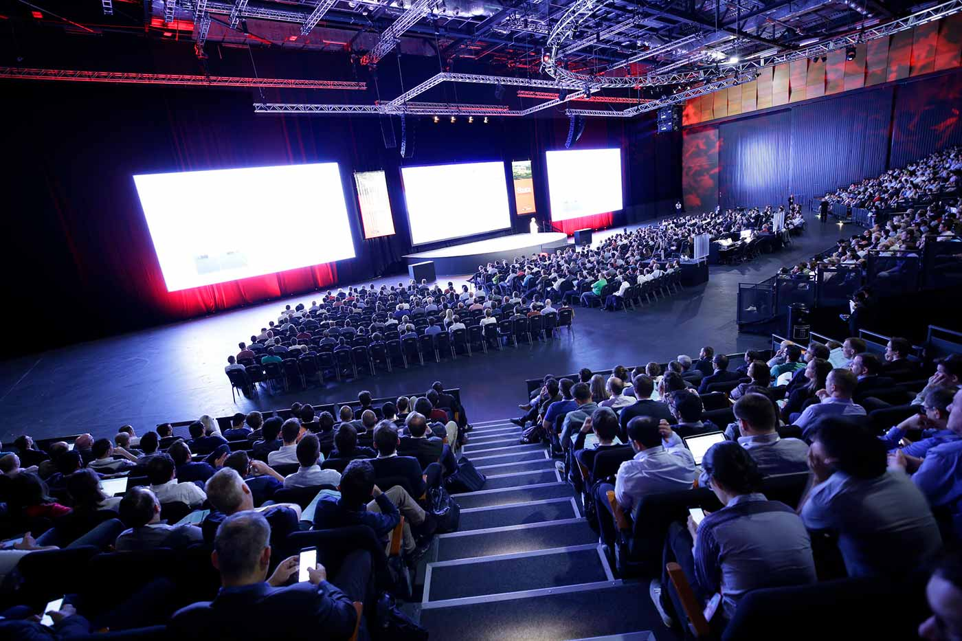 The keynote stage at Strata Data Conference