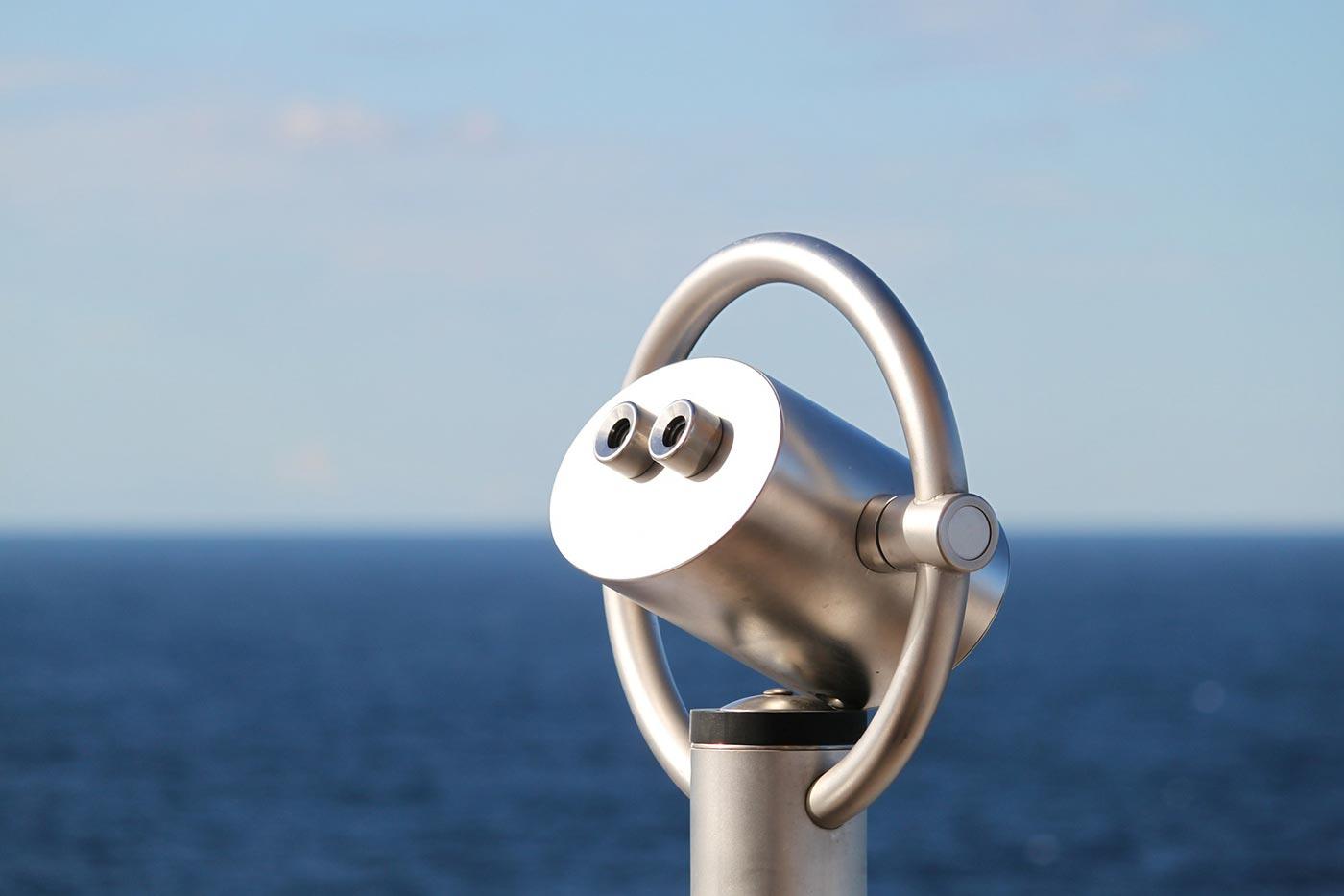 Telescope looking over water
