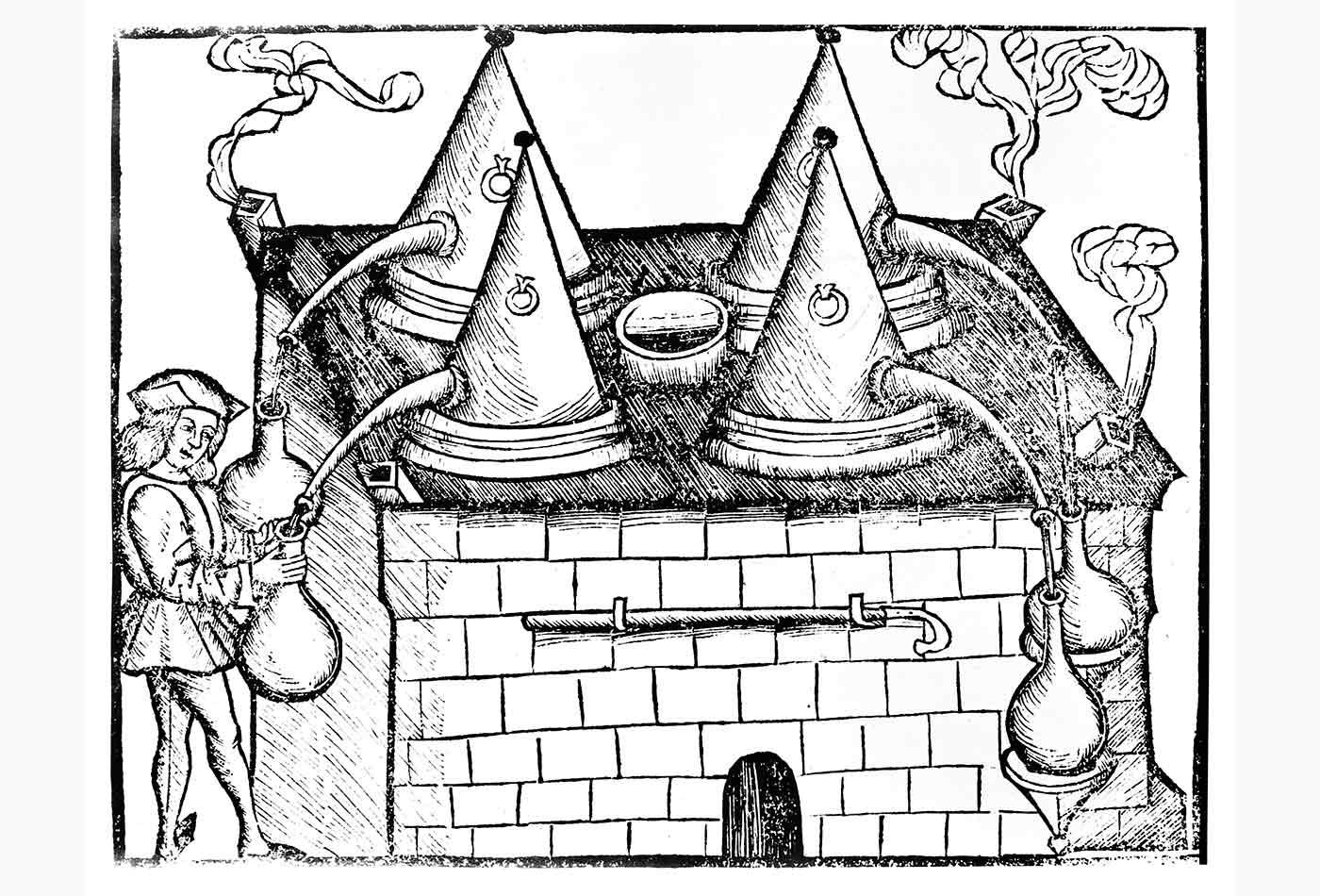 Distilling oven