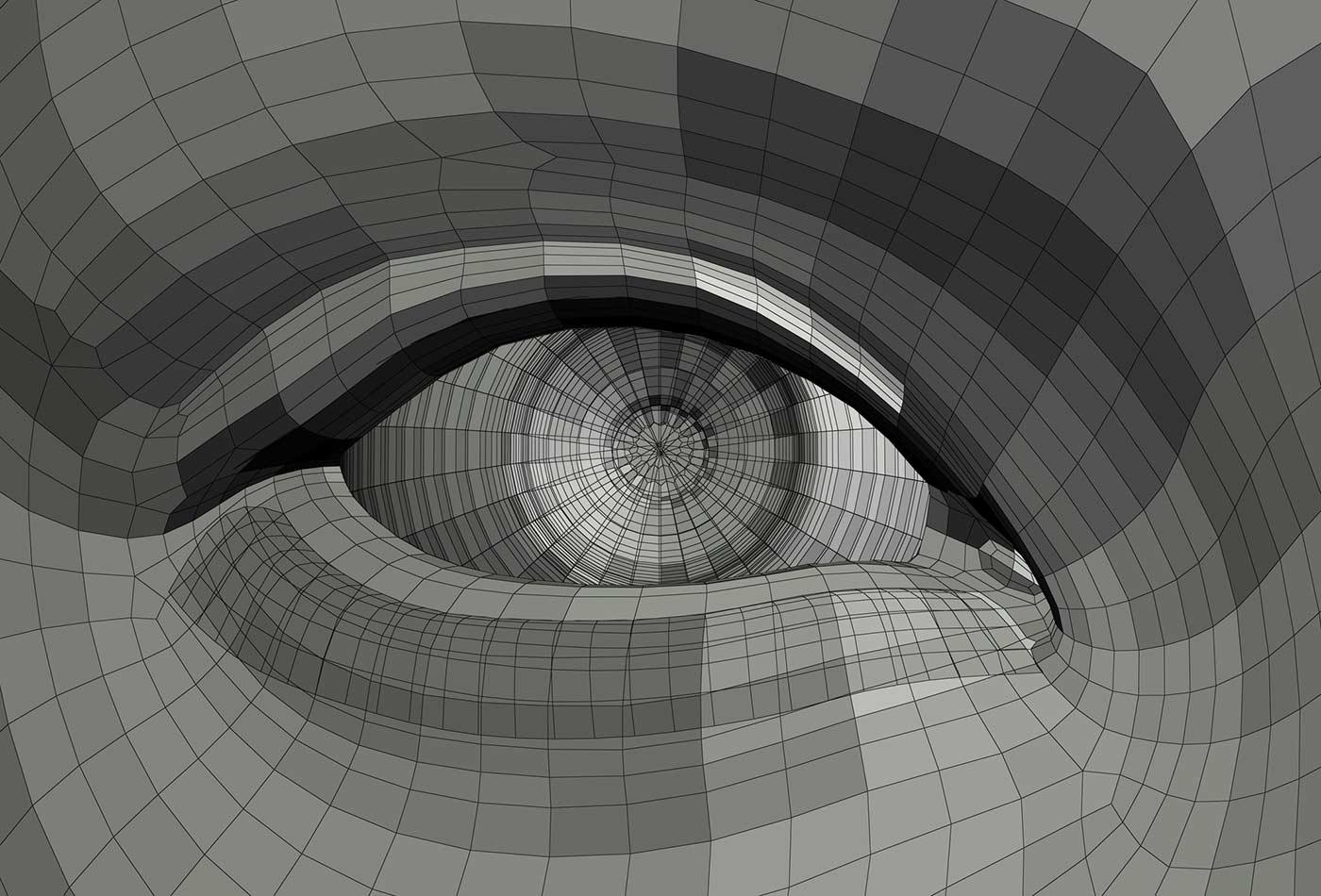 Mechanical eye illustration,