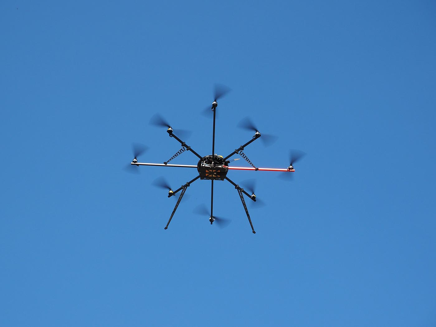 Drone against a blue sky