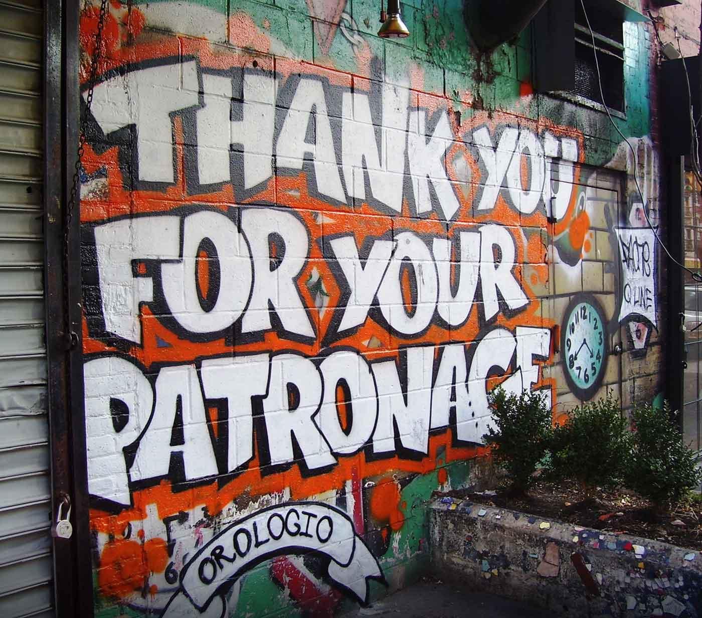 Patronage sign