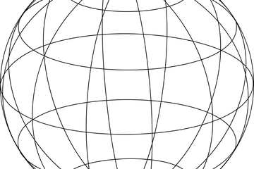 Sphere with lines