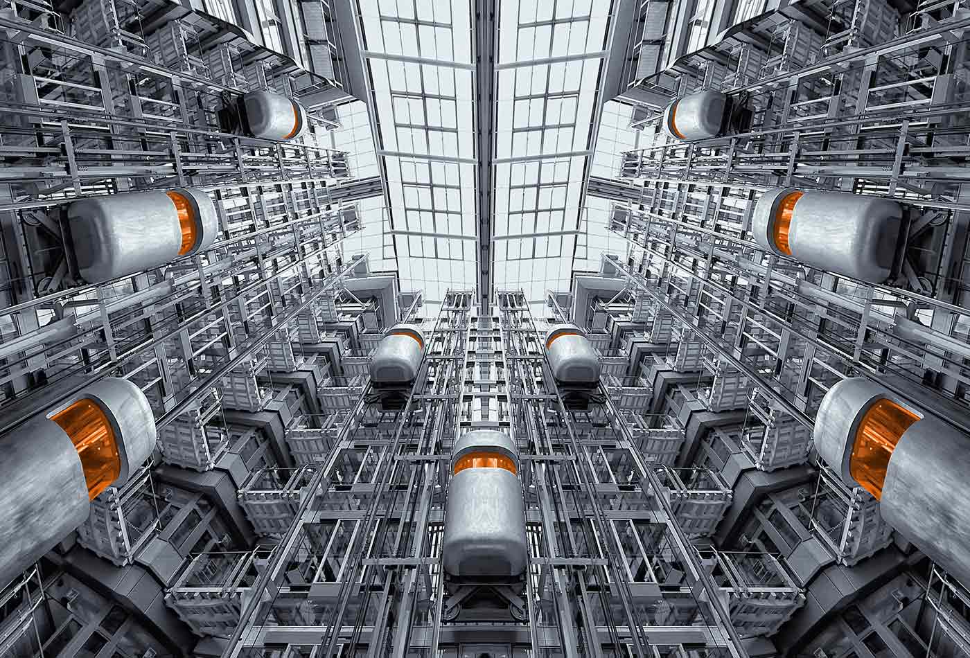 Elevator, Berlin.