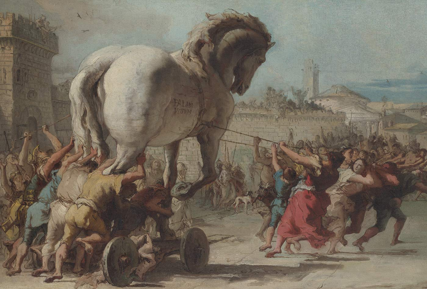 The Procession of the Trojan Horse in Troy, 1773.