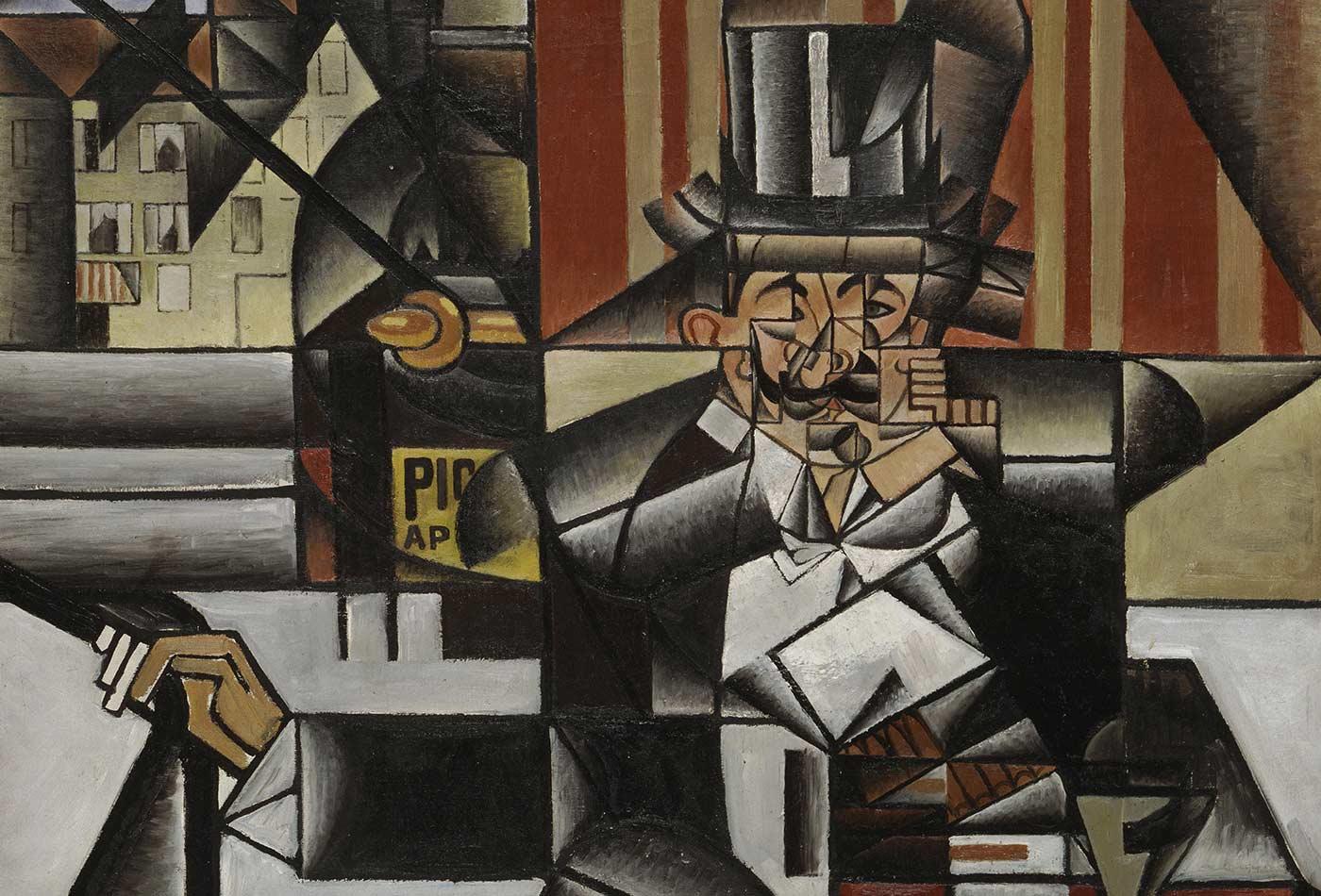 Man in a Café, by Juan Gris, 1912.