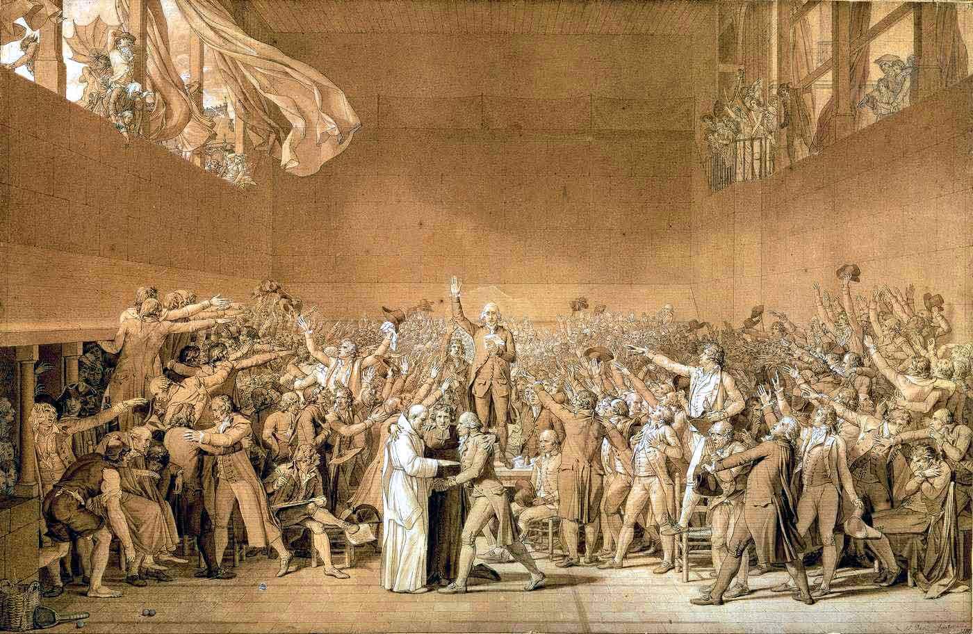 Le Serment du Jeu de paume, 1791.