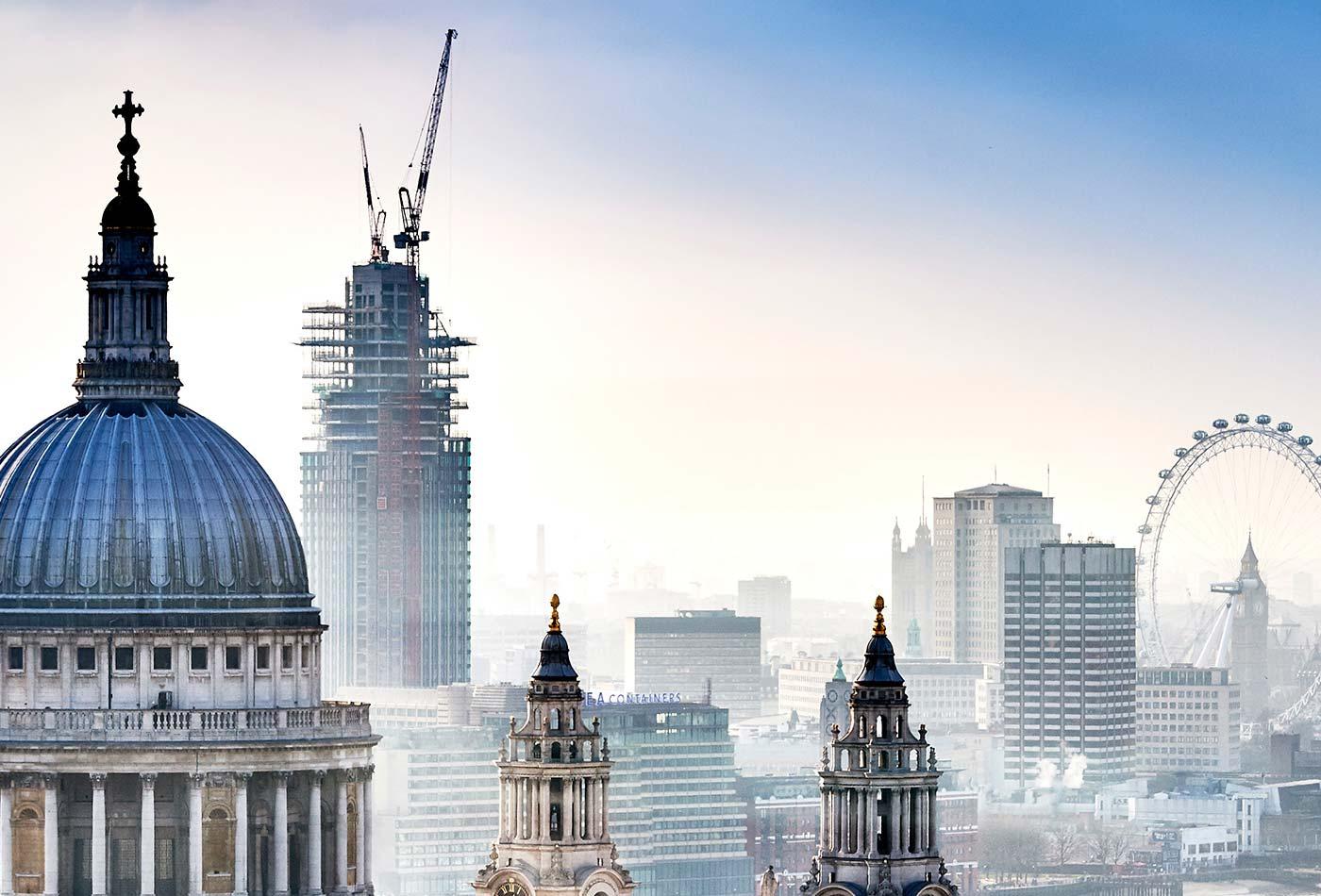London skyline - Strata London 2019