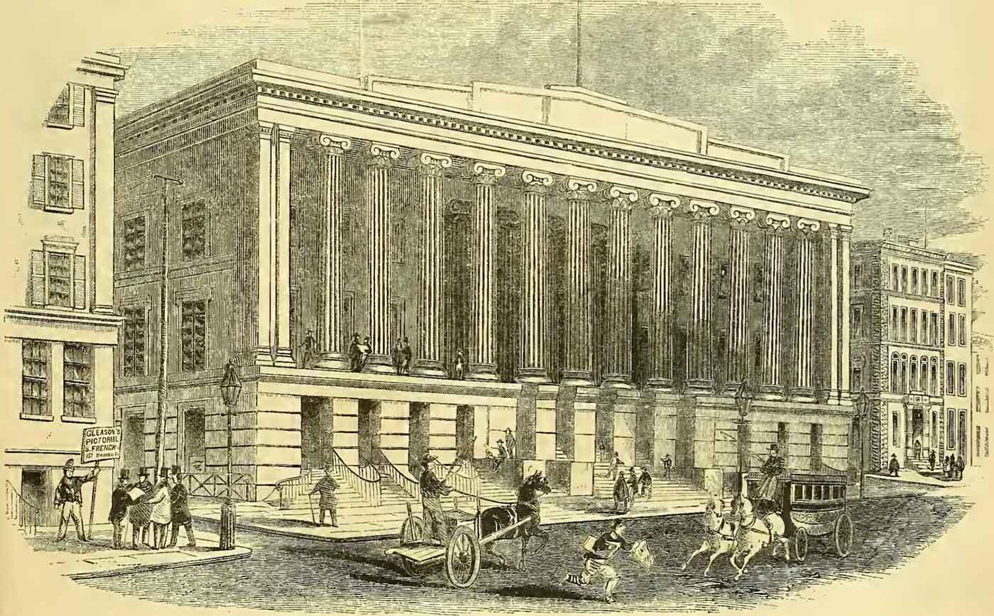 Merchants' Exchange, Wall Street. 1852