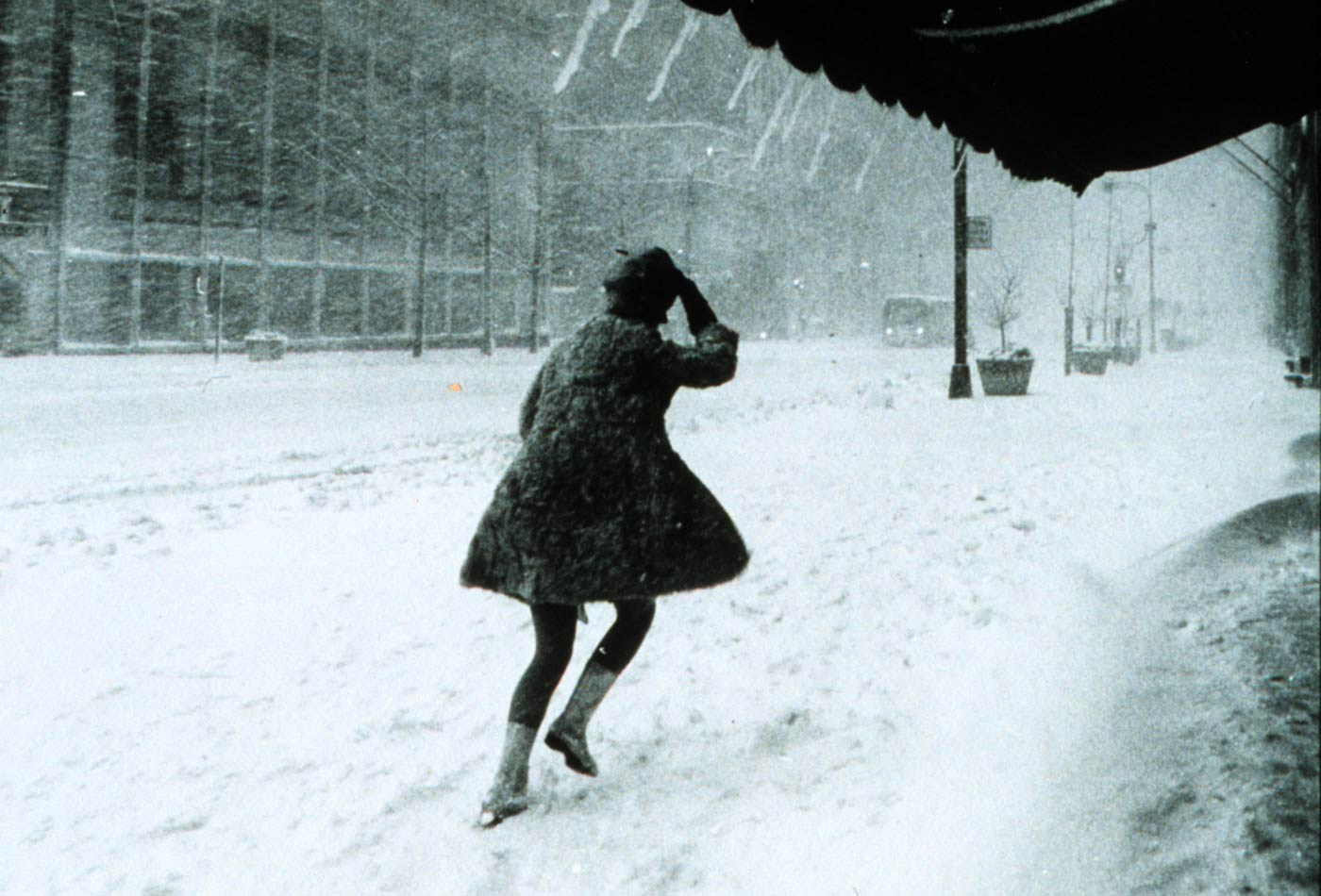 A resident struggles to walk in a blizzard in Manhattan, New York