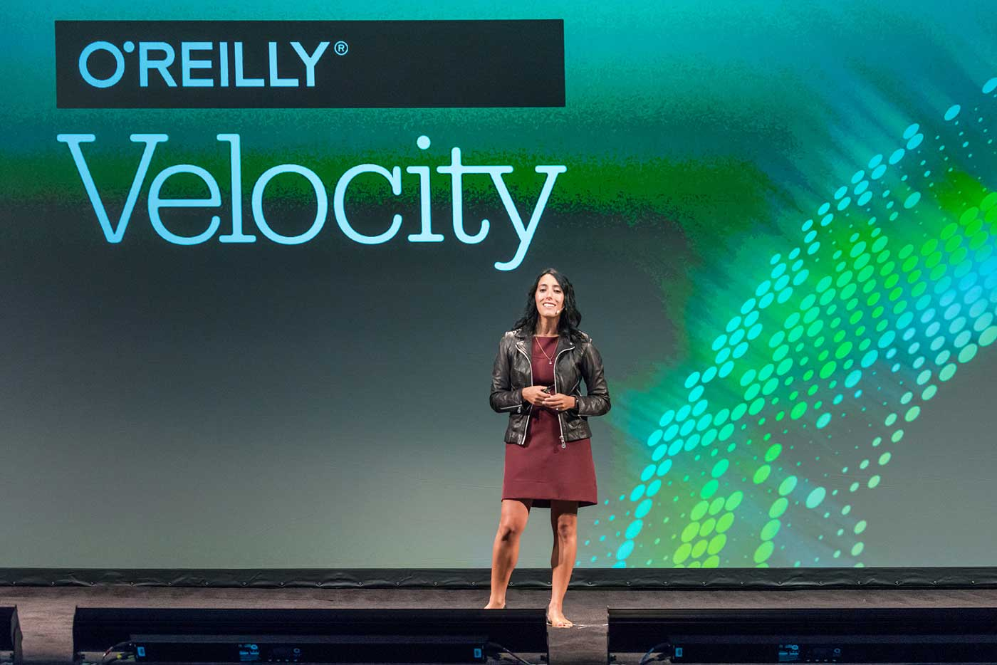 Ines Sombra at the O'Reilly Velocity Conference in New York