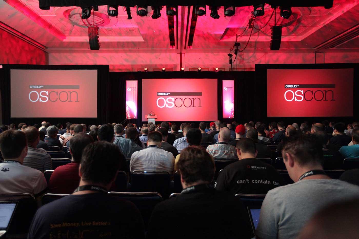 OSCON keynote stage