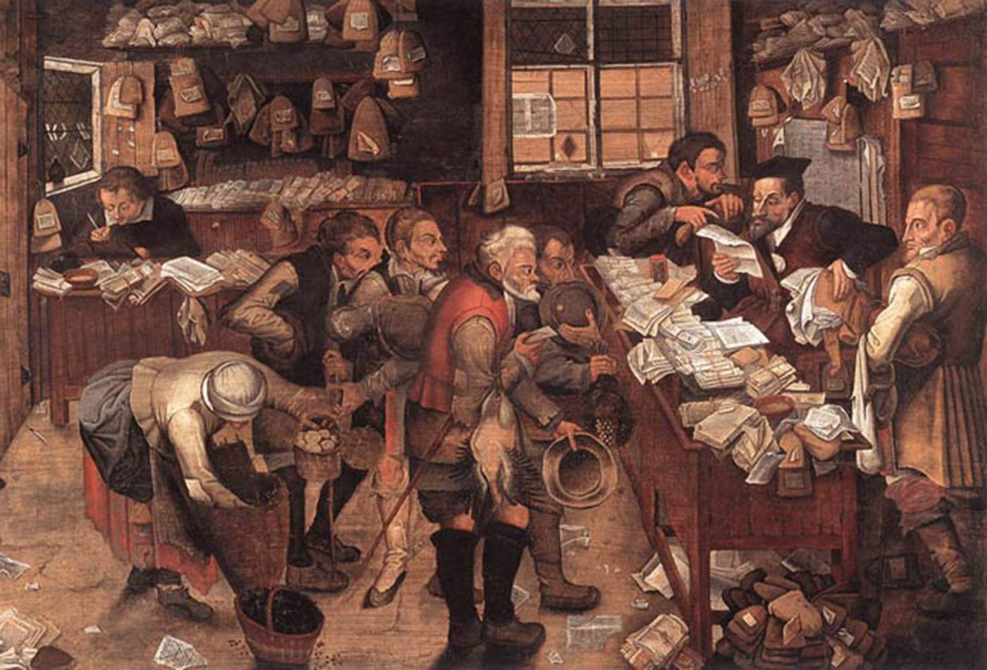 """""""Village Lawyer,"""" by Pieter Brueghel the Younger, 1621."""