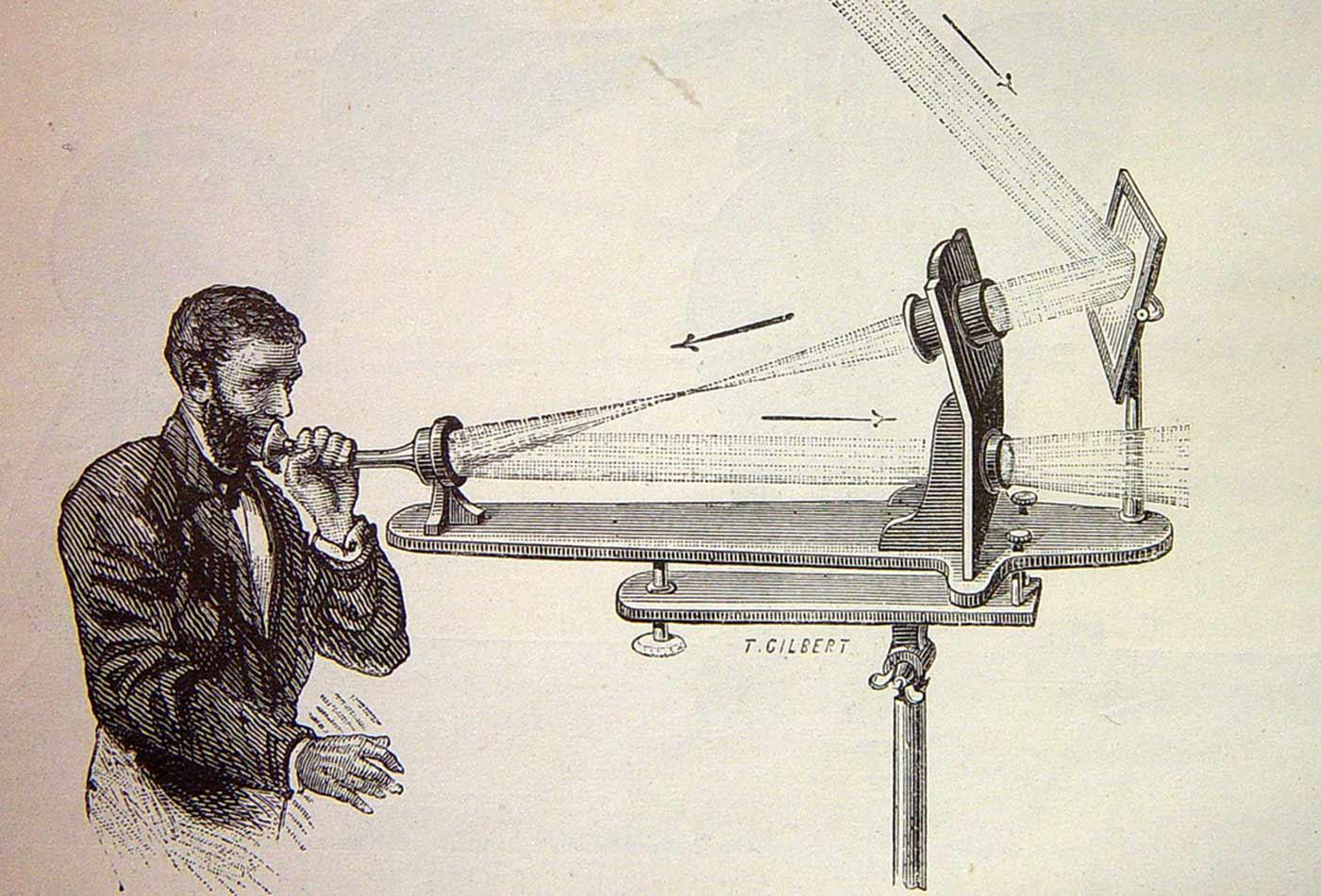 Illustration of the photophone's transmitter.
