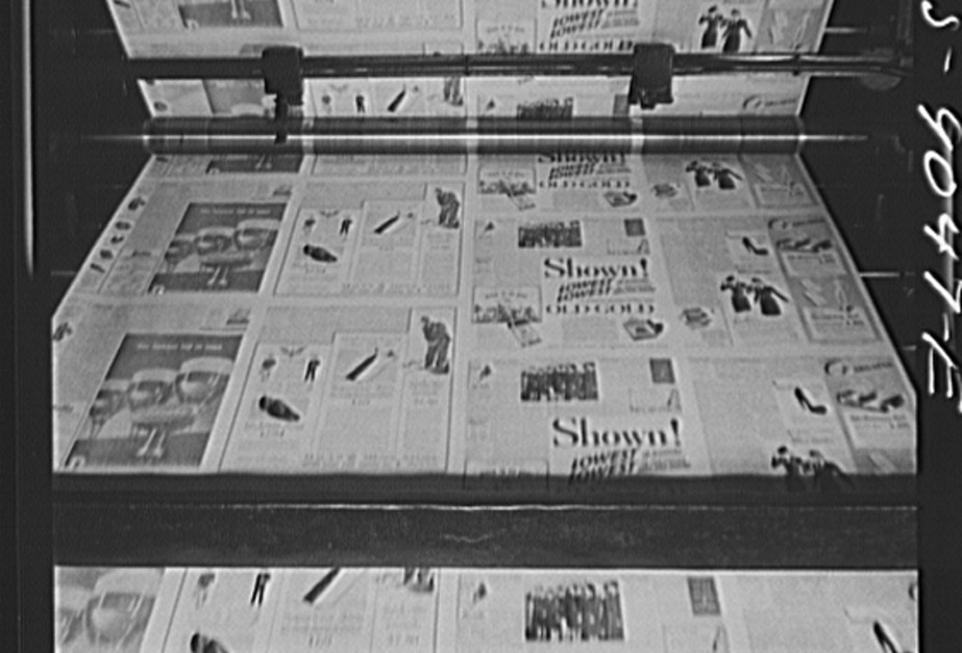 Pressroom of the New York Times newspaper.