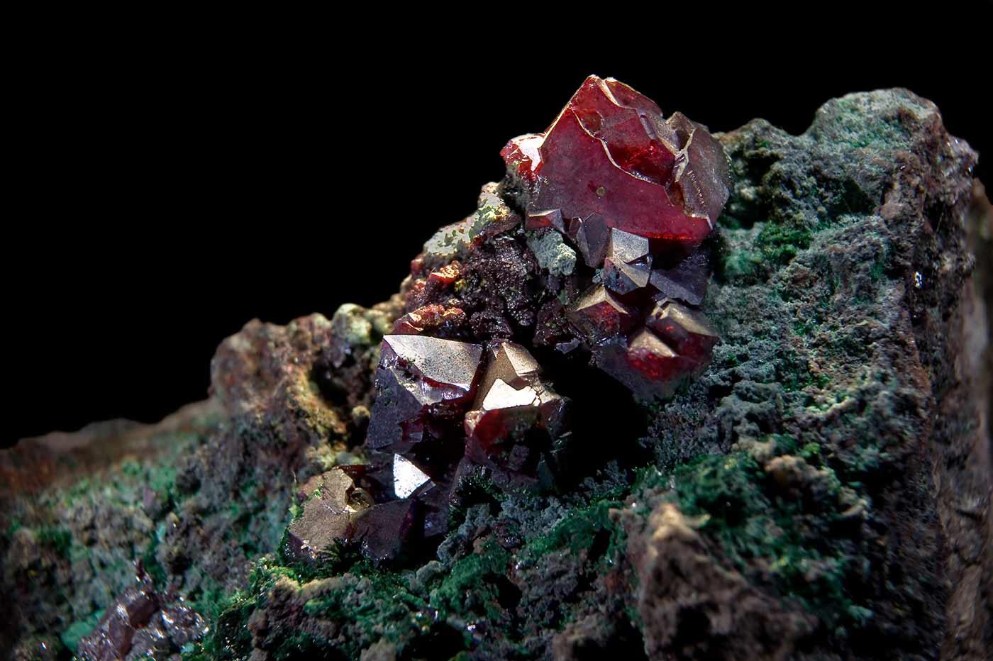 The copper mineral cuprite.
