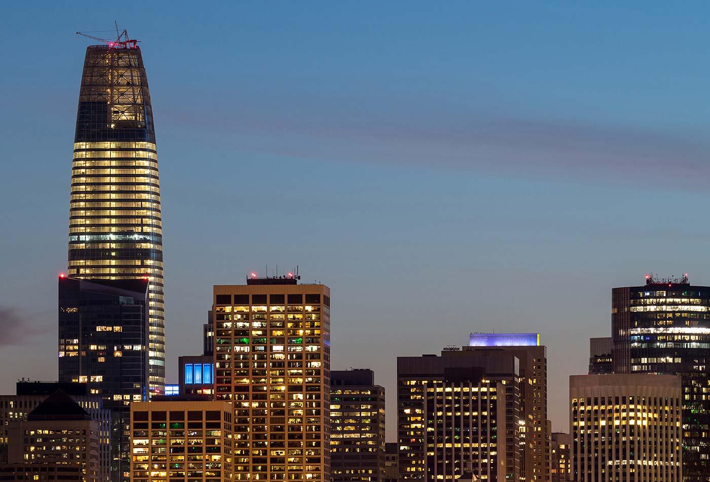 San Francisco skyline - Strata Data Conference 2019