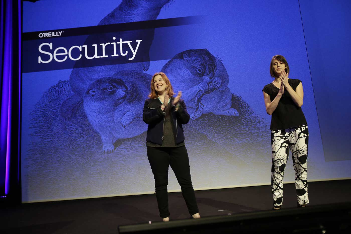 Allison Miller (left) and Courtney Nash (right) at the O'Reilly Security Conference in Amsterdam 2016.