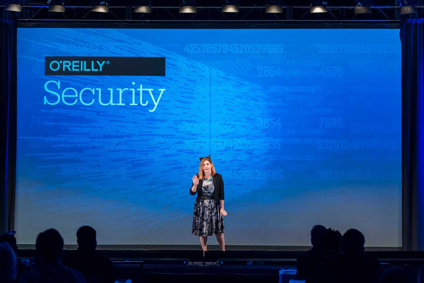 Allison Miller at the O'Reilly Security Conference in New York 2017