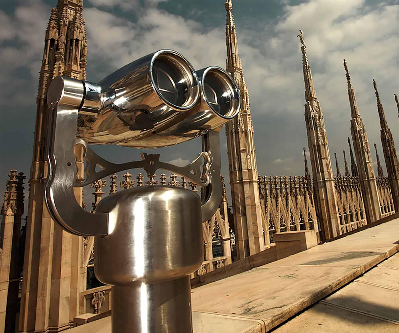 Binoculars at Duomo roof
