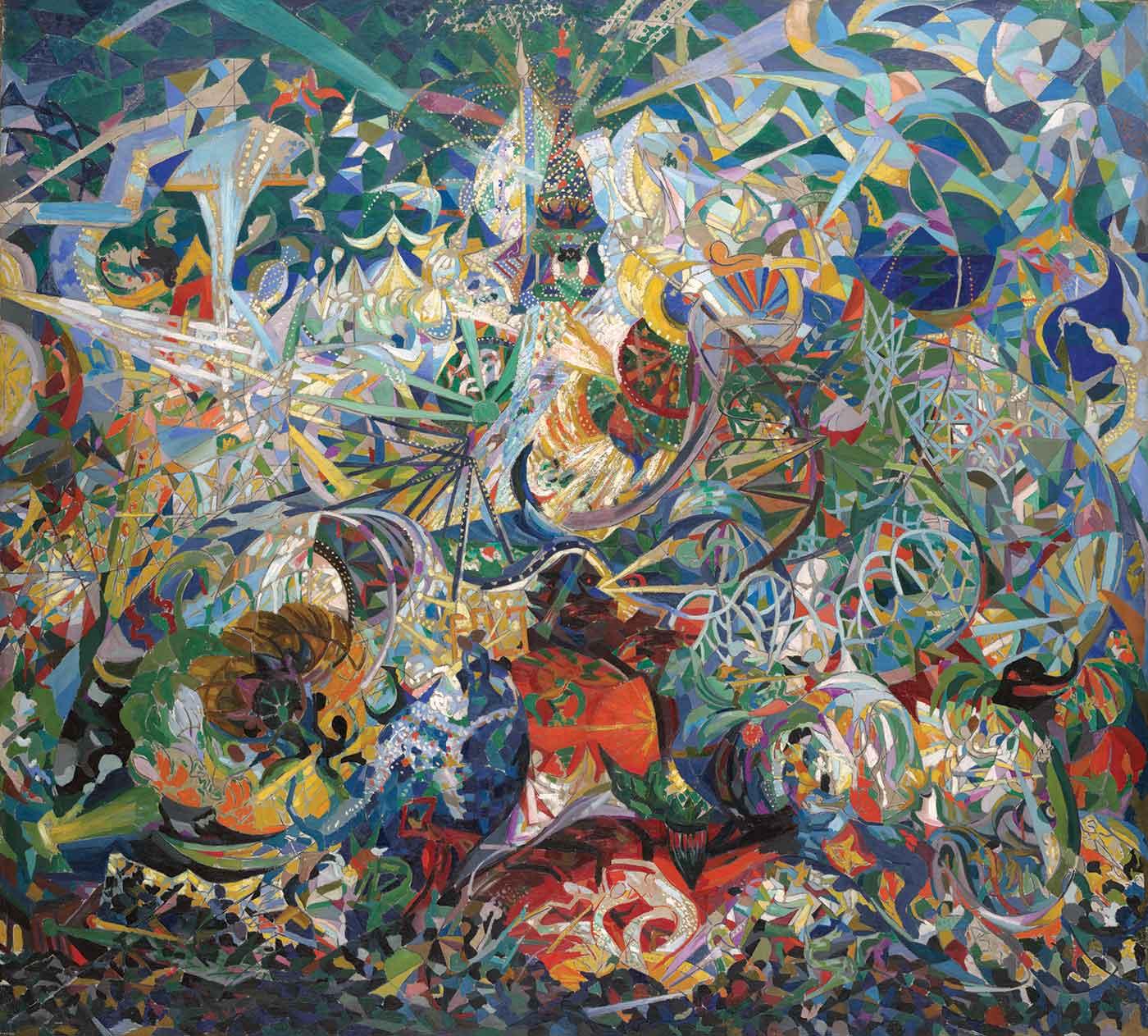 Battle of Lights, Coney Island, Mardi Gras - Joseph Stella
