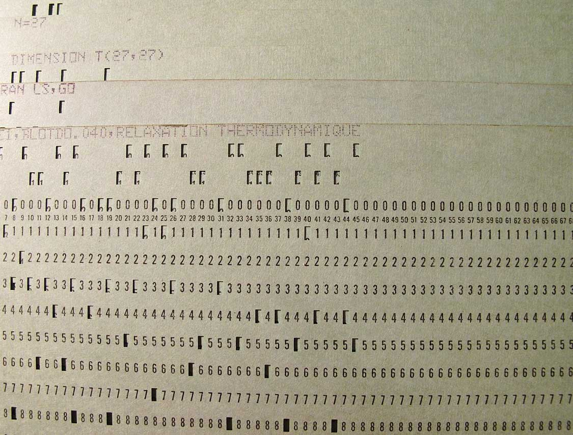 A punch card with Fortran.