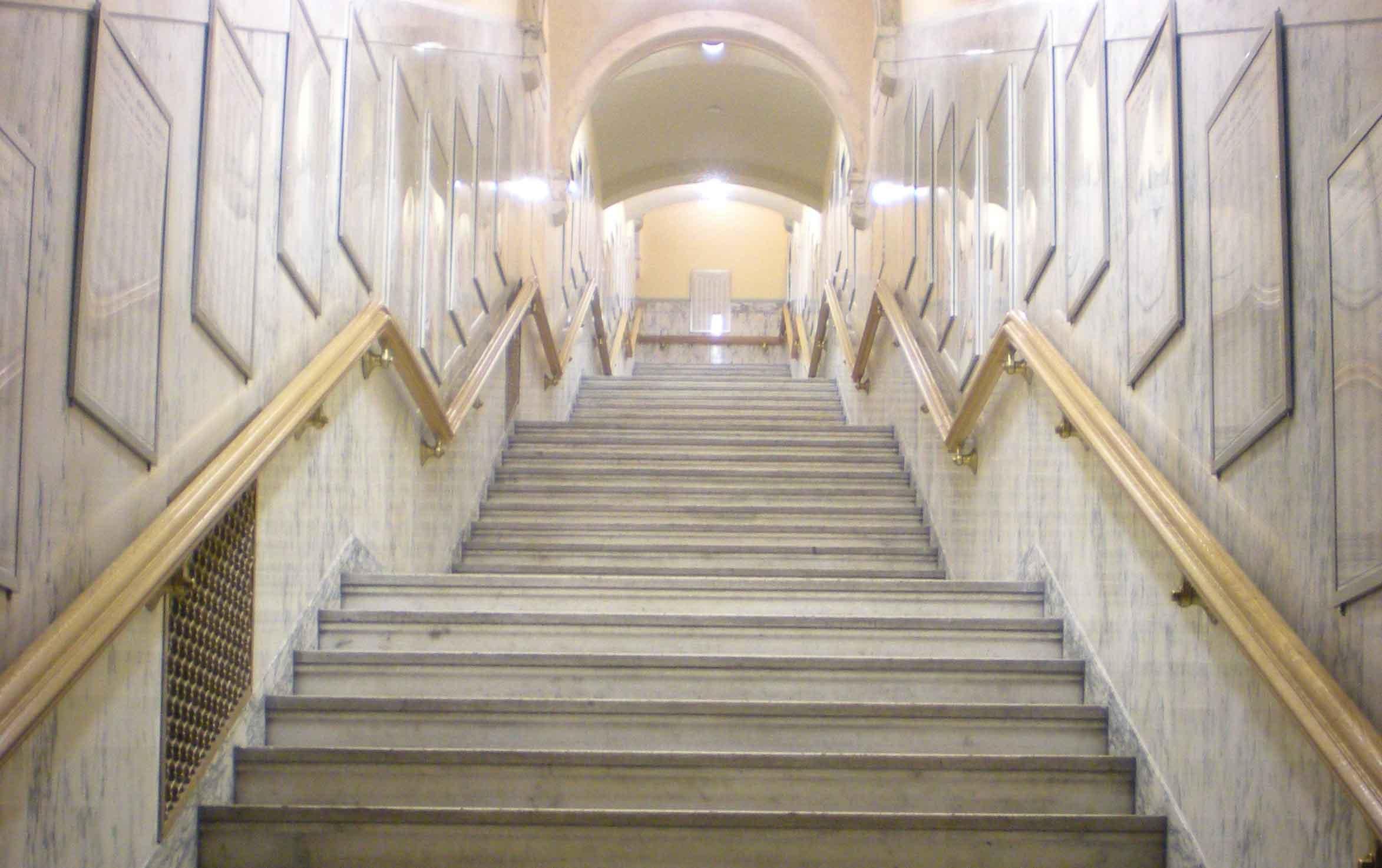 Indiana World War Memorial stairs