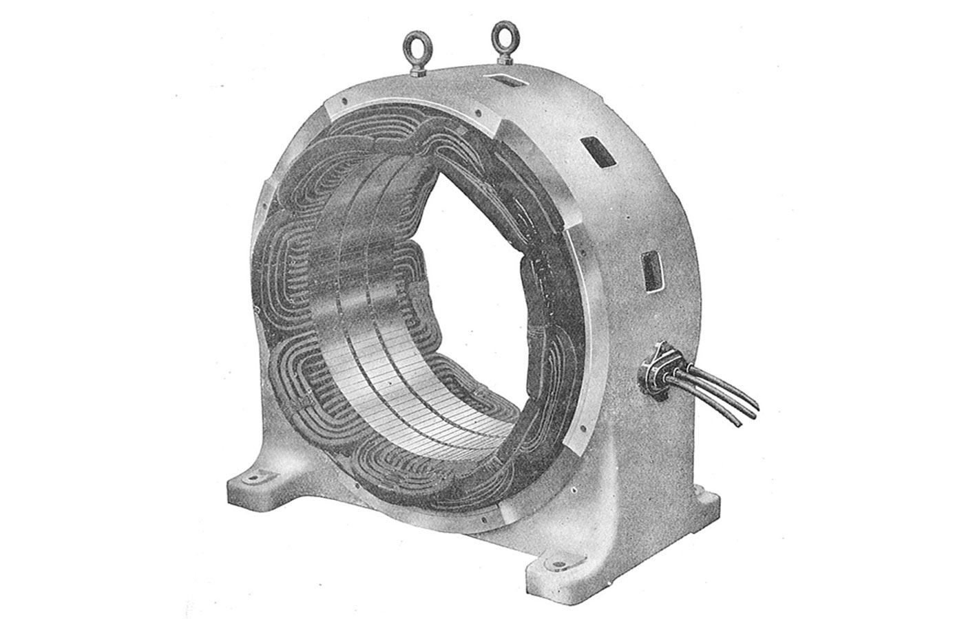 Stator of induction motor.