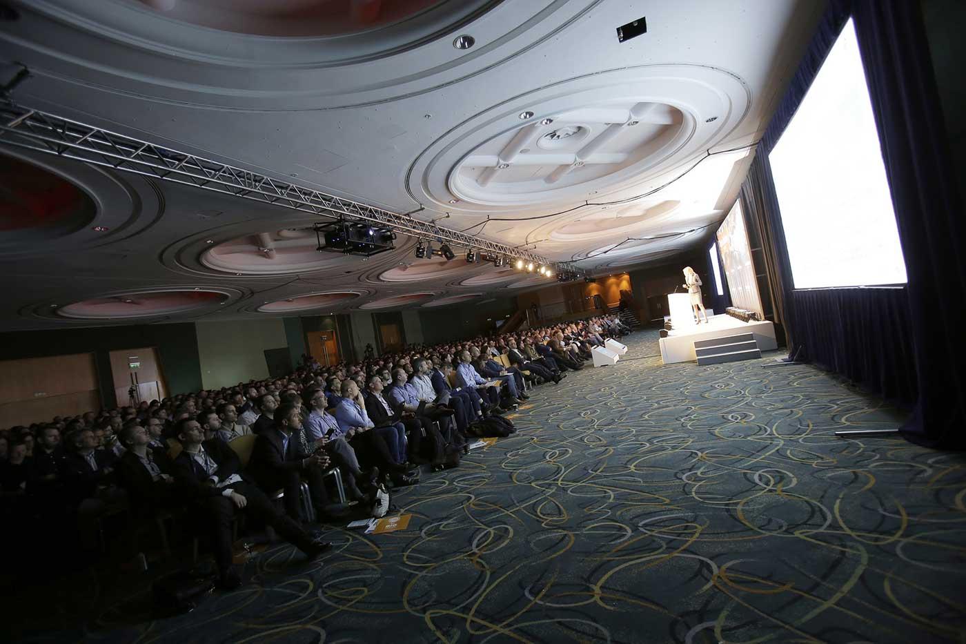 Strata + Hadoop World keynote stage