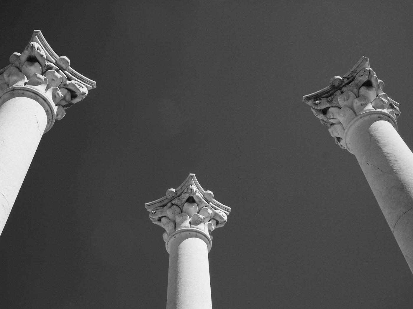 Temple pillars in Greece