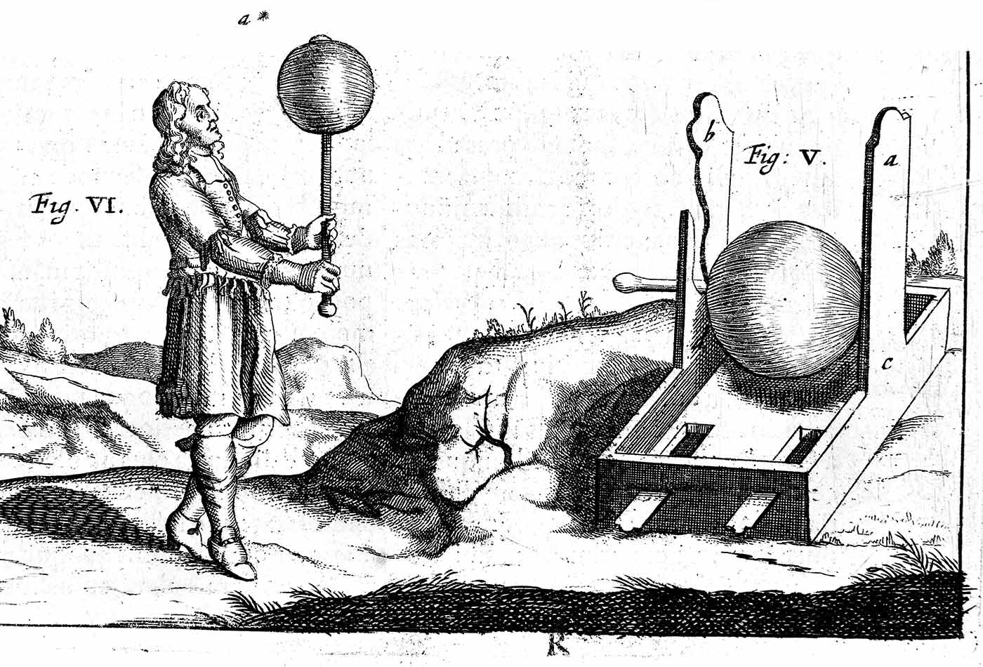 The first electrical machine invented by Otto von Guericke.