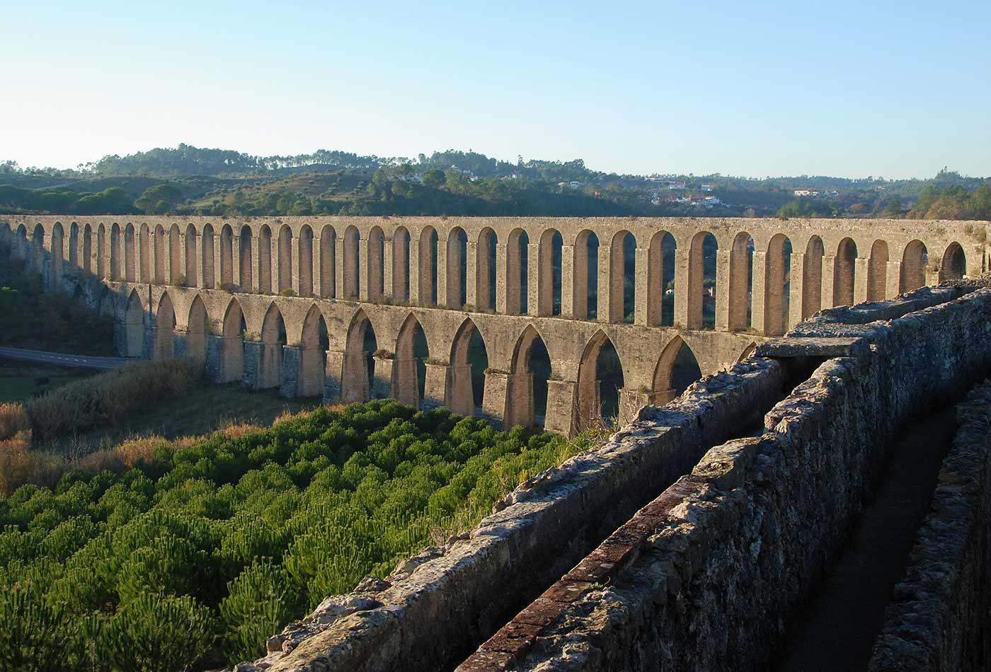 Aqueduct of Pegões, Tomar, Portugal.