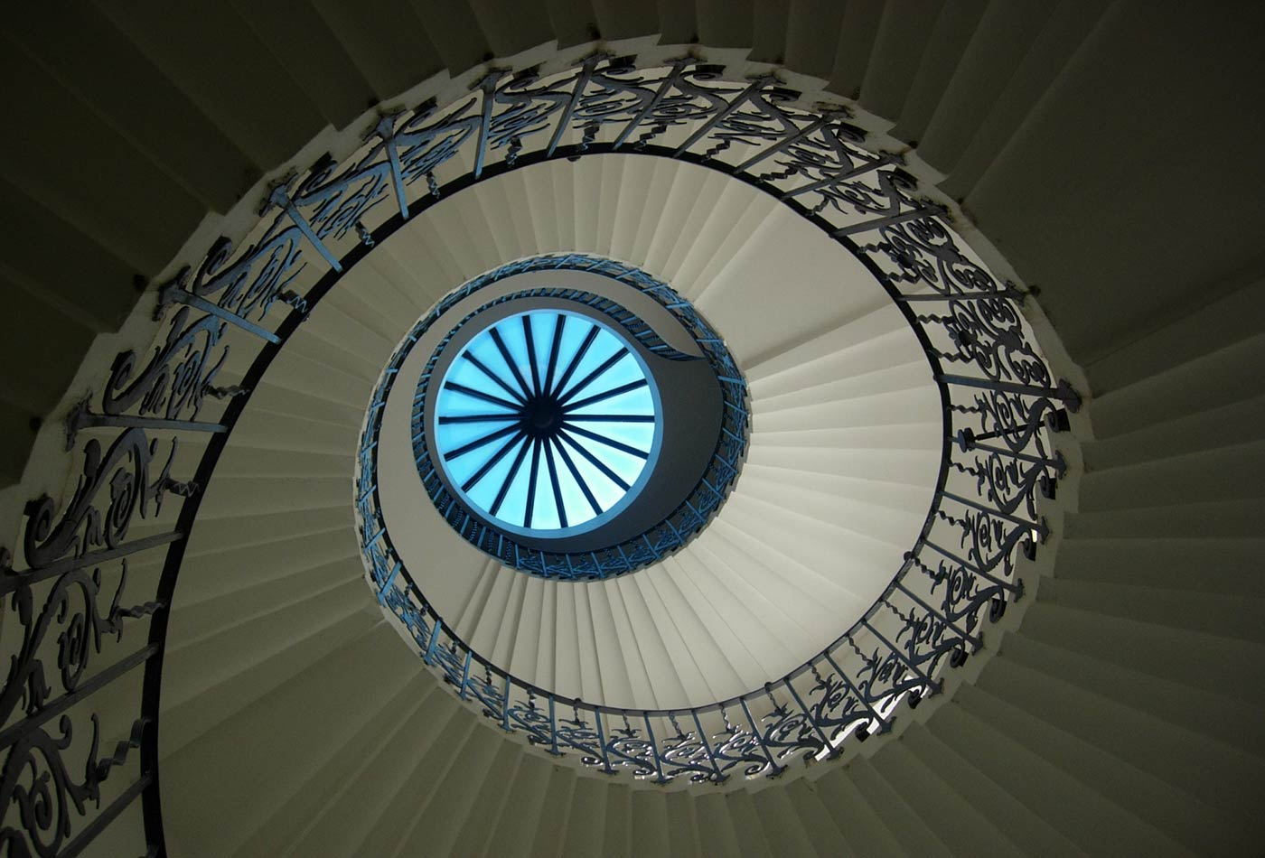 The Tulip Stairs and lantern at the Queen's House in Greenwich by Inigo Jones.