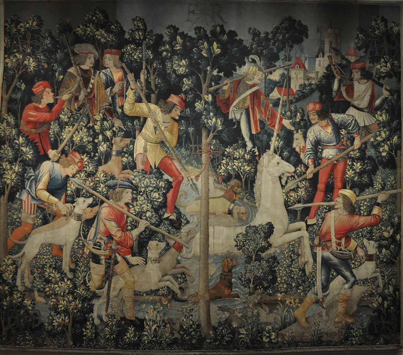 Unicorn Tapestry, The Unicorn Leaps the Stream