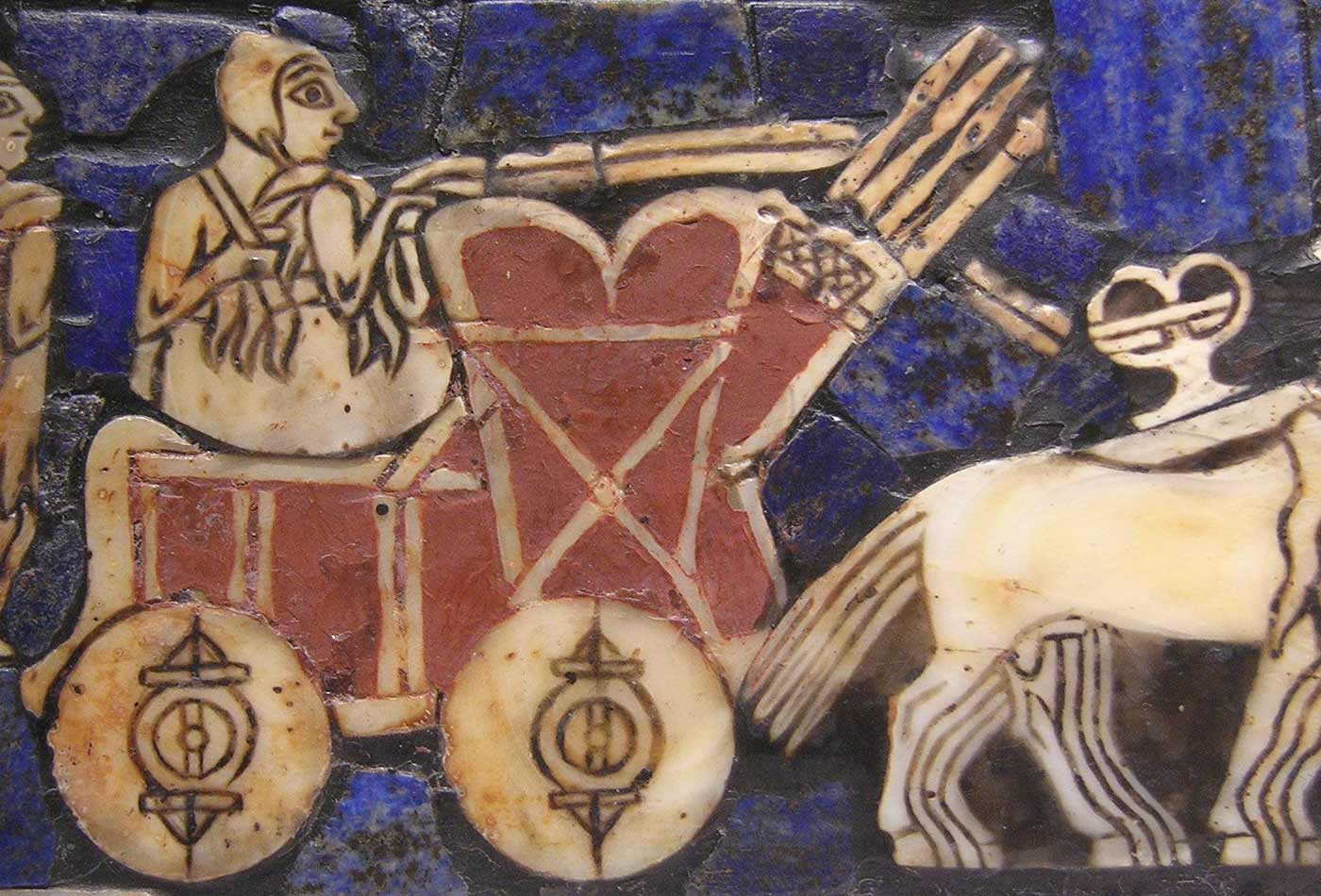 History of technology: detail of the Standard of Ur, ca. 2,500 BC.