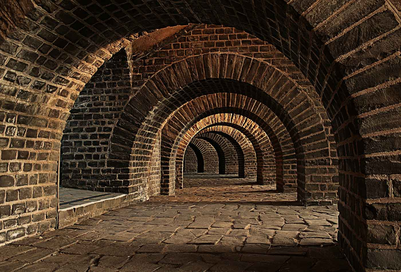 Vaulted cellar.
