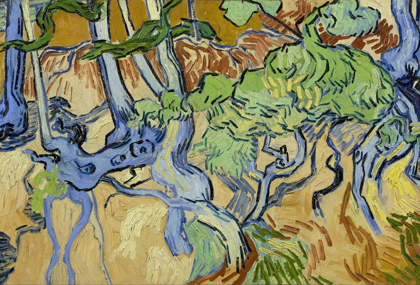 """Tree-roots,"" by Vincent van Gogh, 1890."