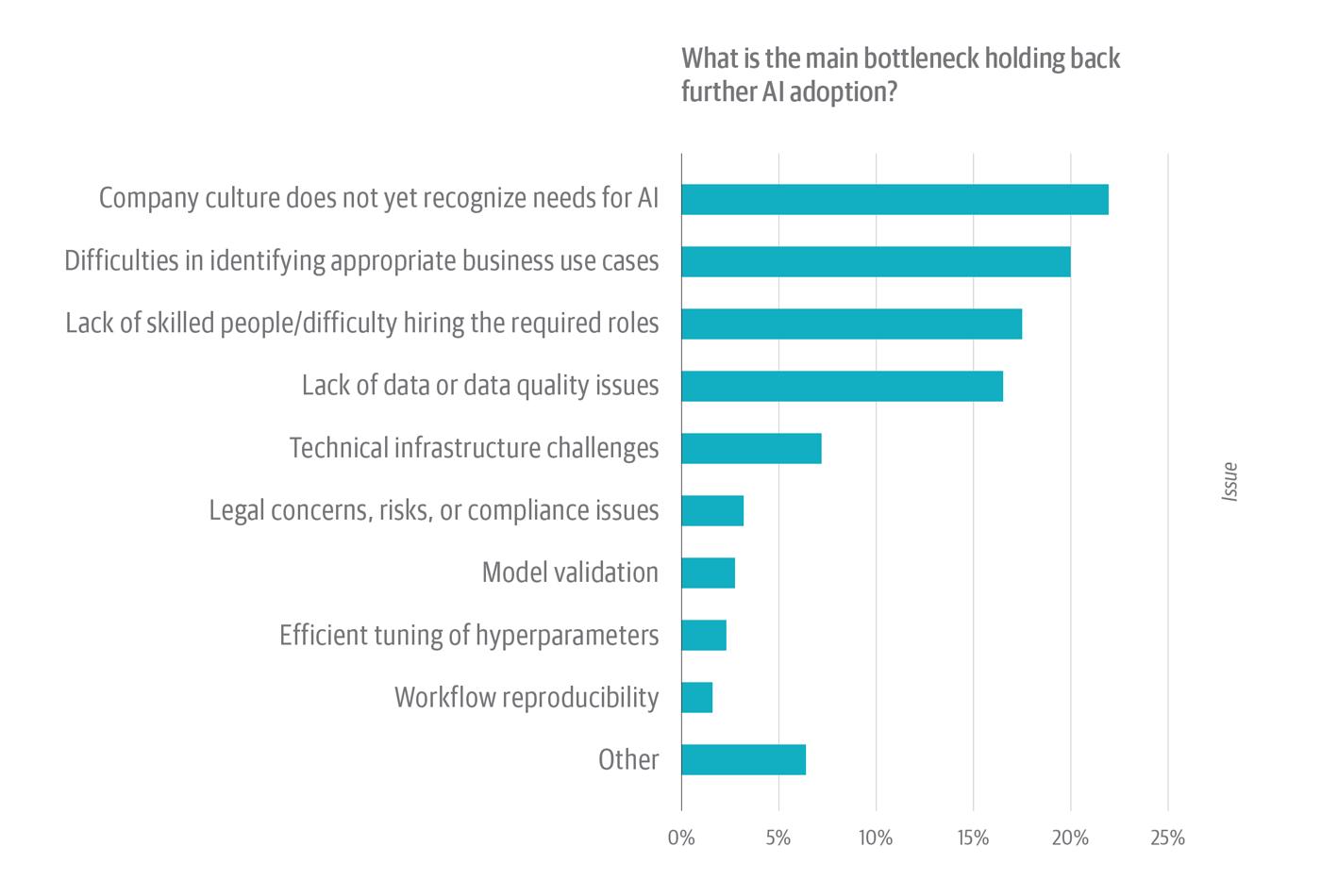 Bottlenecks to AI adoption
