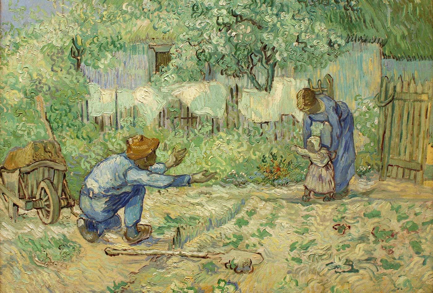 """""""First Steps, after Millet,"""" Vincent van Gogh, 1890."""